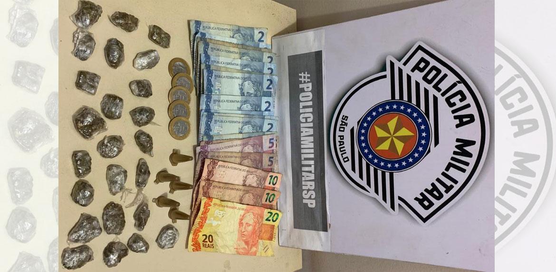 Polícia prende jovem por tráfico de drogas em Fernando Prestes