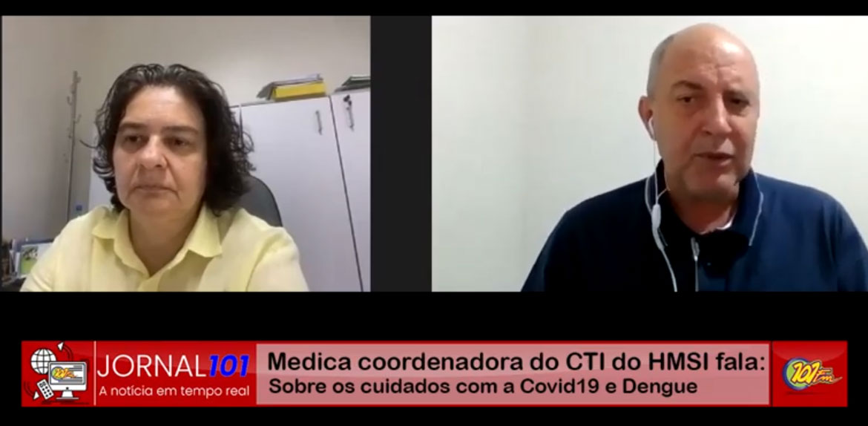 Coordenadora do CTI de hospital de Jaboticabal comenta sobre os cuidados com a dengue e a COVID-19